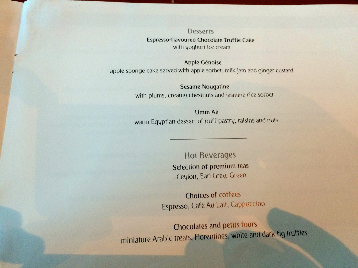 Major Foodie Review Emirates 1st Class