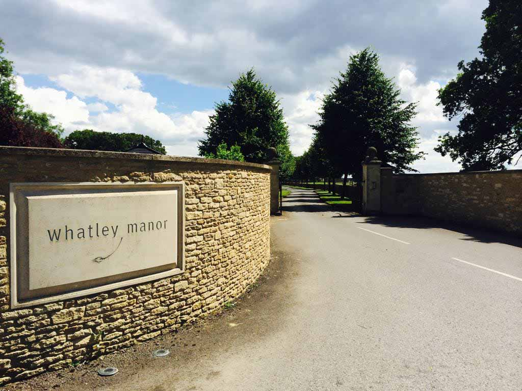 Driveway entrance. Major Foodie Review   The Dining Room at Whatley Manor