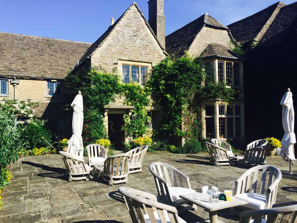 Terrace. Major Foodie Review   The Dining Room at Whatley Manor