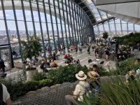 The main area of the Skygarden at the top of 20 Fenchurch St Building
